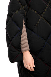 ienki ienki women's puffer coat black