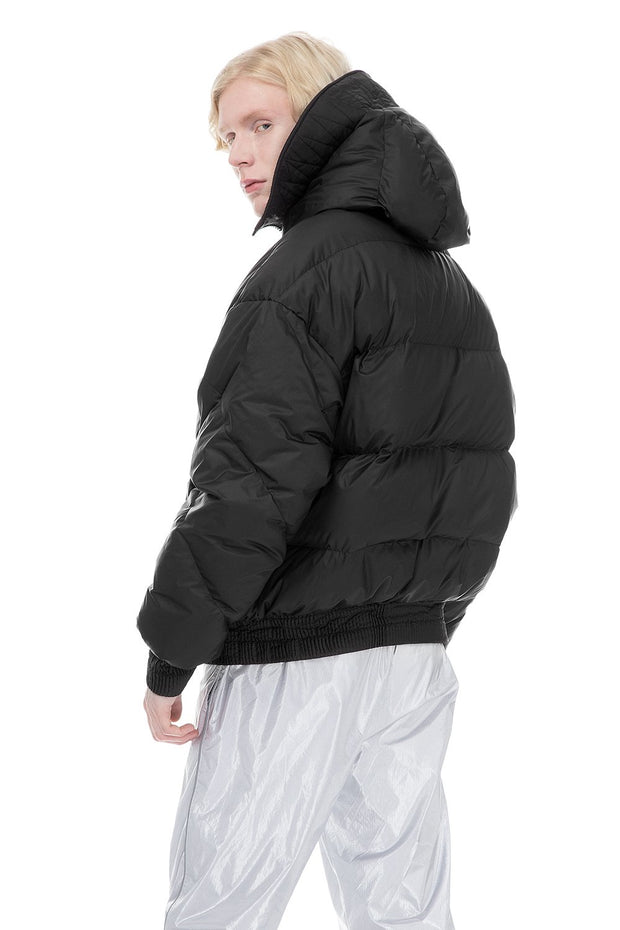 Black Dunlope Puffer Jacket Men's Outerwear