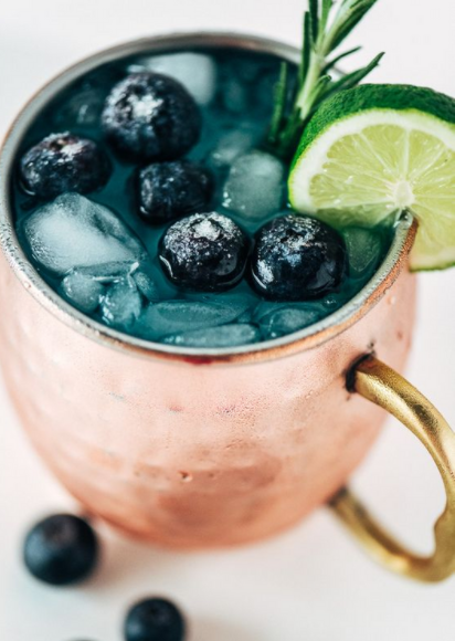 Blue  Moscow Mule
