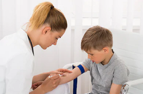 getting a blood sample