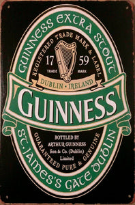 1759 Guinness tin metal sign MAN CAVE brand new
