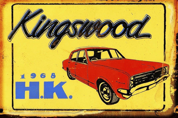 HK Kingswood metal sign 20 x 30 cm  free post - TinSignFactoryAustralia