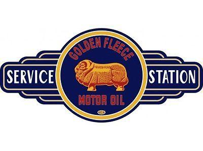 A Golden Fleece  Service Station tin metal  sign bar garage - Free Postage Buy me - TinSignFactoryAustralia