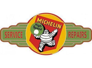 Michelin  Service Station tin metal  sign bar garage - Free Postage Buy me - TinSignFactoryAustralia