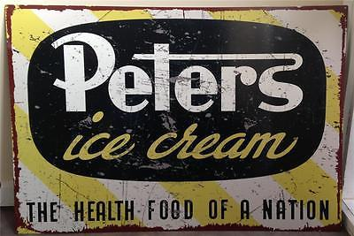PETERS  ICE CREAM  Metal Sign 81 cmx 55.5 cm  Free POSTAGE - TinSignFactoryAustralia