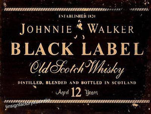 BLACK LABEL JOHNNIE WALKER  Metal  Sign  30  x 40 cm - TinSignFactoryAustralia