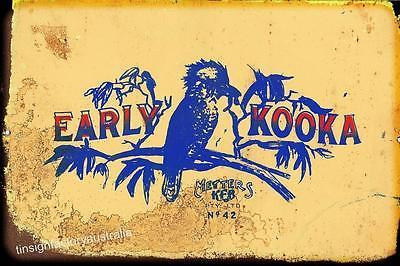 EARLY KOOKA   Metal  Sign  20x 30 cm - TinSignFactoryAustralia