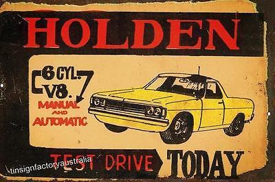 HOLDEN 6 OR V8   Metal  Sign  20x 30 cm - TinSignFactoryAustralia