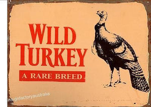 WILD TURKEY  Metal  Sign  30  x 40 cm - TinSignFactoryAustralia