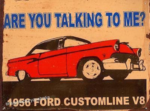 FORD CUSTOMLINE Metal  Sign  30  x 40 cm - TinSignFactoryAustralia