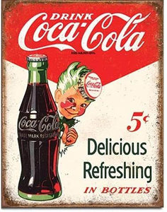 COKE - Sprite Boy 5 Cents METAL SIGN FREE POSTAGE 30 X 40 CM