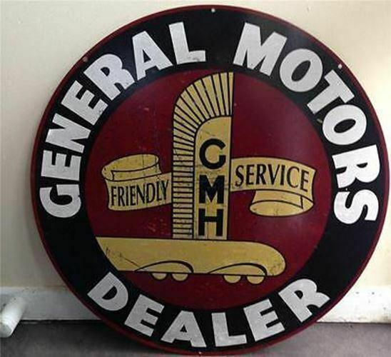 A GENERAL MOTORS DEALER Metal  Sign 560 mm  Wide Quality   Free Postage