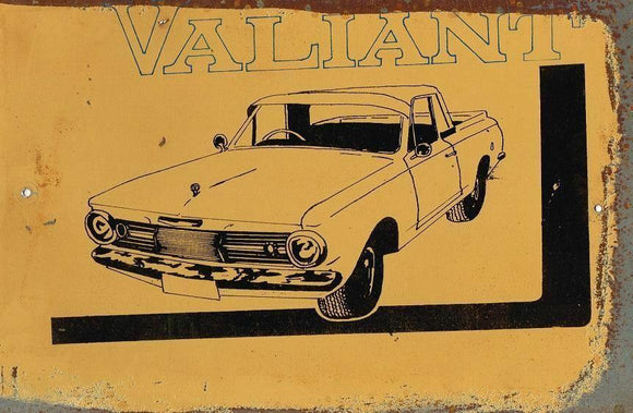 Valiant  Own a Classic  metal sign 20 x 30 cm free postage