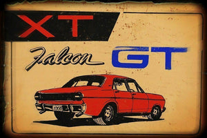 XT  FALCON  GT metal sign 20 x 30 cm free postage