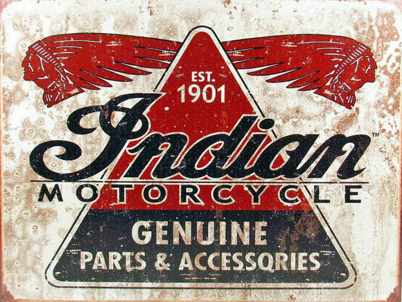 INDIAN Rustic Look Vintage Metal Tin Sign MAN CAVE Shed Garage