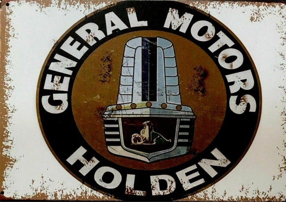 HOLDEN Rustic Look Vintage Tin Metal Sign Man Cave  20 x 30 cm