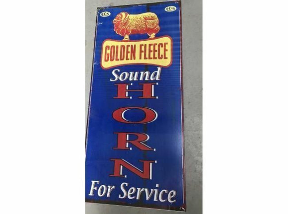 GOLDEN FLEECE SOUND HORN TIN METAL SIGN  free postage