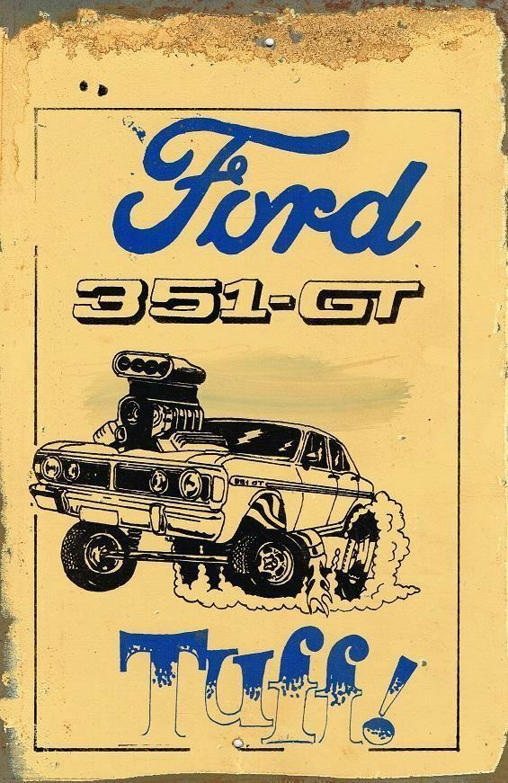 Ford 351 GT Tuff metal sign 20 x 30 cm free postage