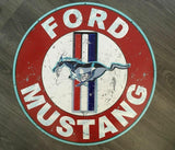 Ford Mustang Metal  sign Man cave bar  Free postage Australia wide