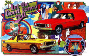 Holden Sandman Let the Good Times Roll HX 1976 Tin Sign