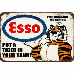 ESSO  Rustic Look Vintage Retro Tin Signs Man Cave, Shed & Bar SIGN