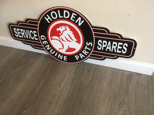 Genuine Holden Parts metal tin sign bar garage -