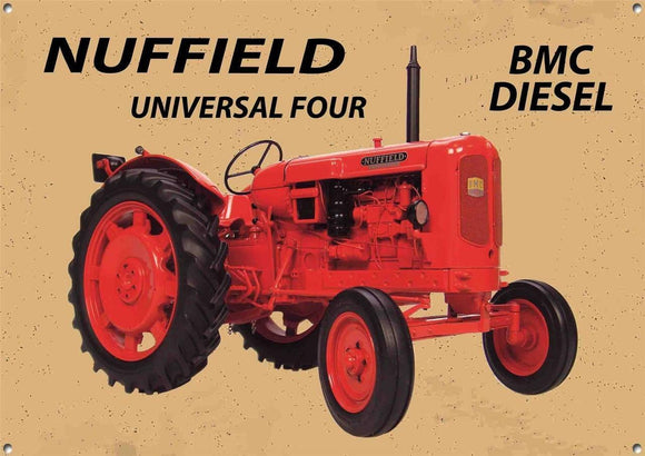 Nuffield Tractor Metal  Sign  30  x 40 cm