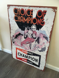 Choice of Champions metal tin sign bar garage Free postage Australia