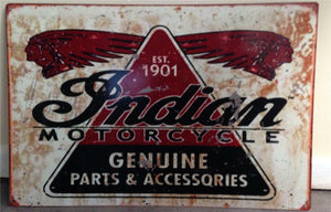 INDIAN MOTORCYCLES  Metal Sign 40 cmx 60 cm  Free POSTAGE