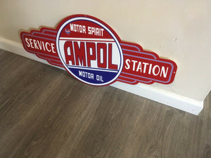 Ampol Motor Oil  metal tin sign bar garage