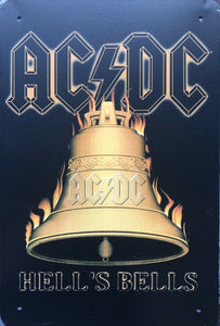 AC/DC Memorabilia Garage Rustic Vintage Metal Tin Signs Man Cave Shed and Bar Sign