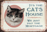 ALL VISITORS CAT'S  Garage Rustic Vintage Metal Tin Signs Man Cave,Shed and Bar