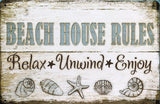 BEACH Rustic Vintage Metal Tin Sign Man Cave,Garage,Shed Bar and Home decor