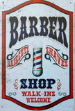 Barber shop walk ins welcome tin metal sign MAN CAVE brand new