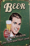 Beer Rustic Look Vintage Garage Metal  Tin Signs Man Cave, Shed and Bar Sign