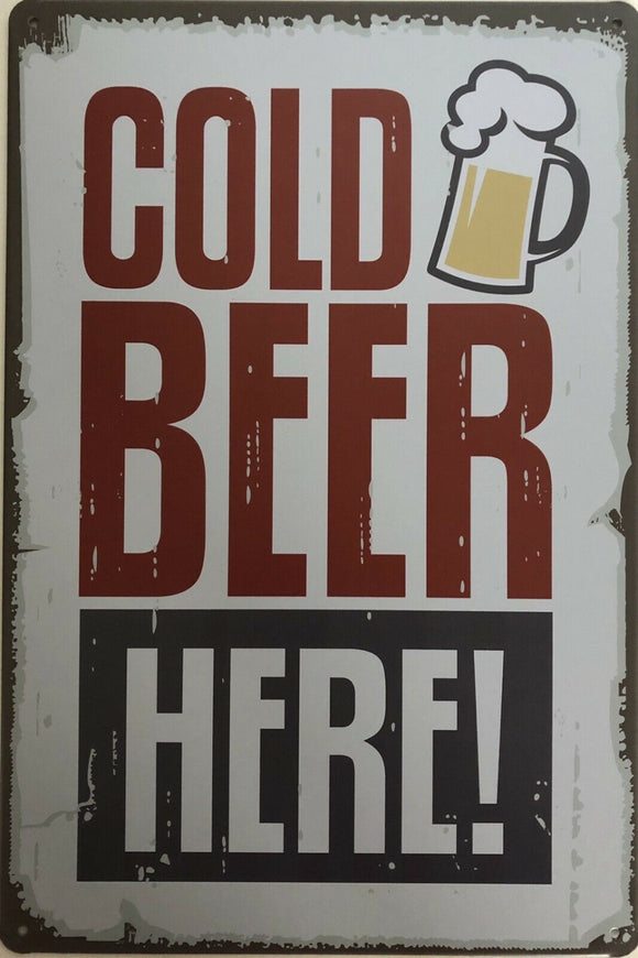 Beer Vintage Rustic Garage Metal Tin Signs Man Cave, Shed and Bar