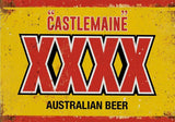 Beer four x castlemaine tin metal sign MAN CAVE brand new