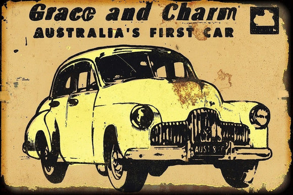 Grace and Charm metal sign 20 x 30 cm free postage - TinSignFactoryAustralia