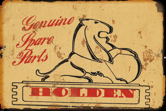 Genuine Holden Spare Parts  metal sign 20 x 30 cm free post - TinSignFactoryAustralia