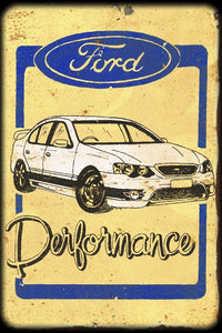 Ford Performance metal sign 20 x 30 cm free postage - TinSignFactoryAustralia