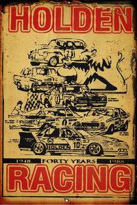 Holden Racing 40 YRS  metal sign 20 x 30 cm free postage