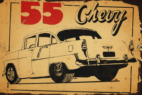 55 chev  metal sign 20 x 30 cm free postage