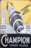 CHAMPION Garage Rustic Vintage Metal Tin Signs Man Cave, Shed and Bar Sign