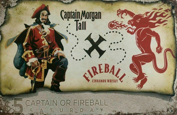 Captain Morgan new tin metal sign MAN CAVE
