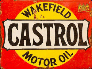 Castrol Wakefield motor oil brand new rustic tin metal sign MAN CAVE 40x30