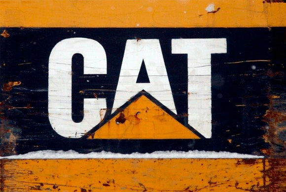 Caterpillar Cat old Diesel  Rustic Look  Tin Metal Sign  Man Cave  Quality Handmade