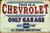 Chevy Chevrolet Garage tin metal sign MAN CAVE brand new