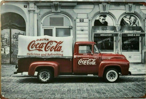 Coca Cola Truck new tin metal sign MAN CAVE