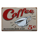Coffee fresh and hot tin metal sign MAN CAVE brand new