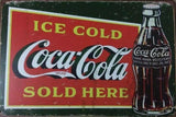 Coke Cola Rustic Vintage metal Tin Signs Garage, Man Cave, Shed, Bar and Home dec